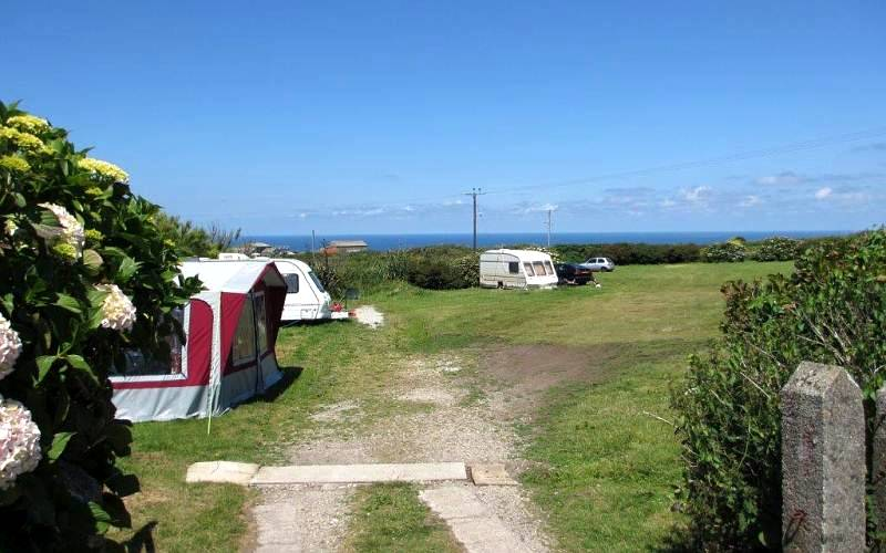 Camping with sea views